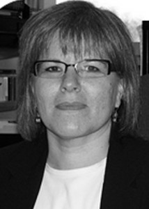 black and white photo of professor naomi adelson