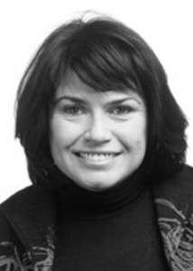 black and white photo of professor rosemary coombe