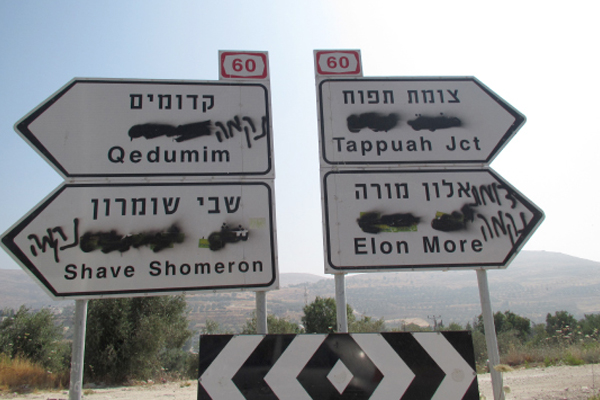 photo of multilingual highway direction signs